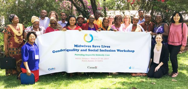 Midwives from Benin, the Democratic Republic of Congo, Ethiopia and Tanzania