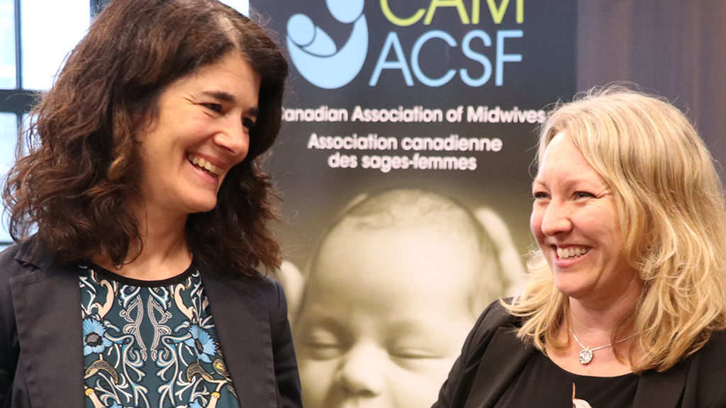 Tonia Occhionero (Executive Director, CAM) and Mona Fortier (MP, Ottawa-Vanier)